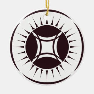 Eye Ray Medallion Reverse Ceramic Ornament