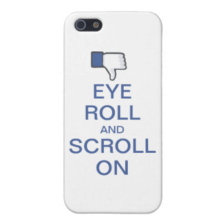 Eye Roll and Scroll On Snarky Facebook Cover For iPhone SE/5/5s