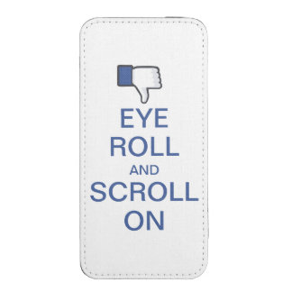 Eye Roll and Scroll On Snarky Facebook iPhone SE/5/5s/5c Pouch