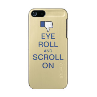 Eye Roll and Scroll On Snarky Facebook Metallic iPhone SE/5/5s Case