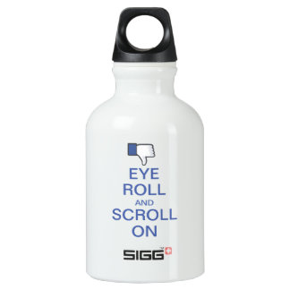 Eye Roll and Scroll On Snarky Facebook Water Bottle
