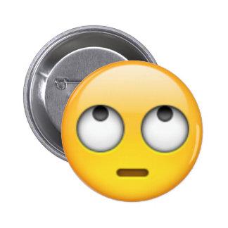 eye roll emoji 2 inch round button