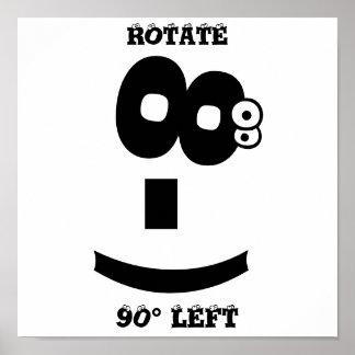 Eye-Rolling emoticon Poster