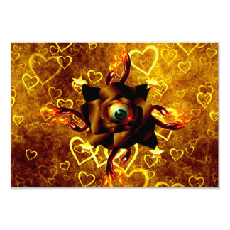 Eye Rose 3.5x5 Paper Invitation Card