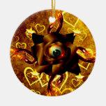 Eye Rose Christmas Tree Ornament