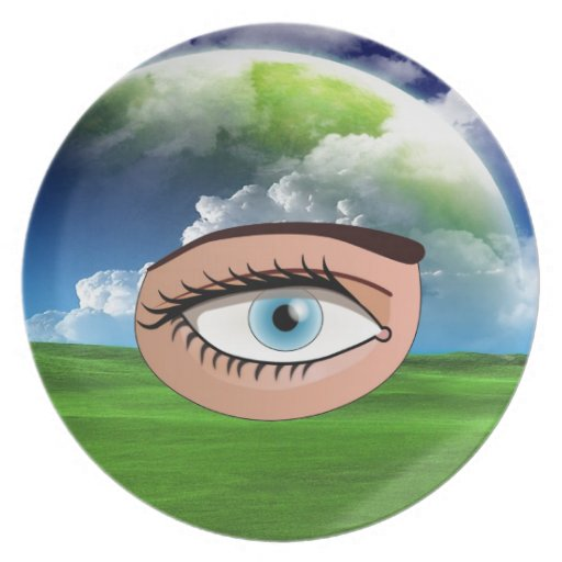 Eye Search for love Plate