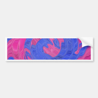 Eye See Pink and Blue Bumper Sticker