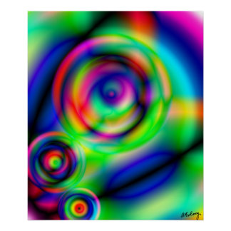 Eye See You Abstract Art Print or Poster