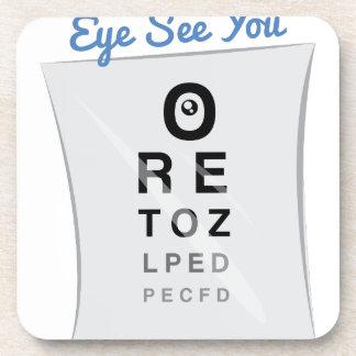 Eye See you Beverage Coasters