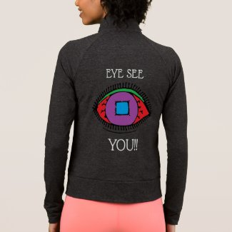 Colorful Eye Print Fun Jacket