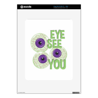 Eye See You Decal For iPad