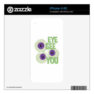 Eye See You Decals For iPhone 4S