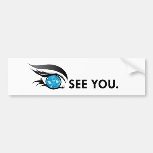 Eye see you december zircon bumper sticker