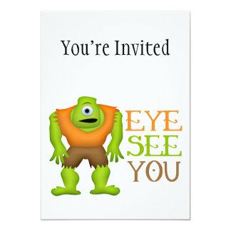 Eye See You Funny Cyclops Monster Custom Invitations