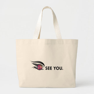 """EYE SEE YOU """"MULTIPLE COLOR"""" LARGE TOTE BAG"""