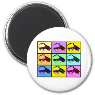 Eye See You (Pop-Art Color) 2 Inch Round Magnet