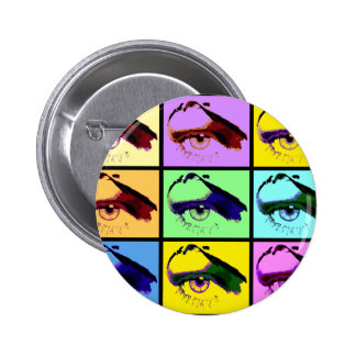 Eye See You (Pop-Art Color) Button