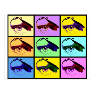 Eye See You (Pop-Art Color) Postcard