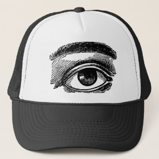 Eye Sees All - Vintage Illustration Trucker Hat