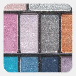 eye-shadow-186756 FASHION BEAUTY MAKEUP COLORFUL e Square Stickers