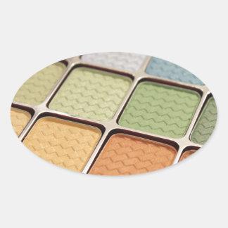 Eye Shadow Makeup Oval Sticker