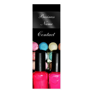 Eye Shadow Nail Polish Palete Make Up Artist Double-Sided Mini Business Cards (Pack Of 20)