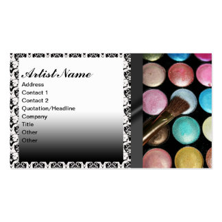 Eye Shadow Palete Make Up Artist Double-Sided Standard Business Cards (Pack Of 100)
