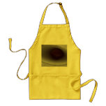 eye shaped hole, made of paper aprons