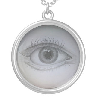 Eye Silver Plated Necklace