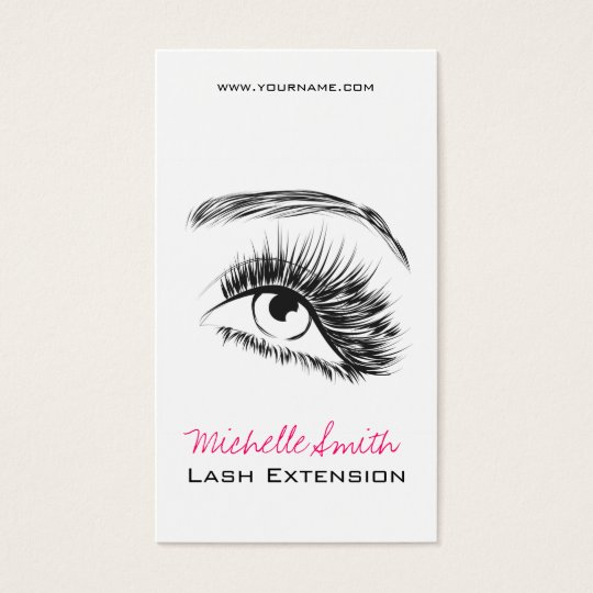 Eye sketch mascara lash extension business card for Eyelash extension gift certificate template