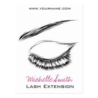 Eye Sketch Mascara Lash Extension Postcard