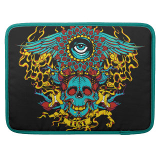Eye skull sleeve for MacBook pro