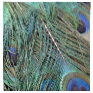 Eye Spots On A Peacock Cloth Napkin