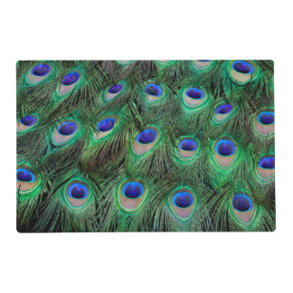 Eye-spots on Male Peacock feather Placemat
