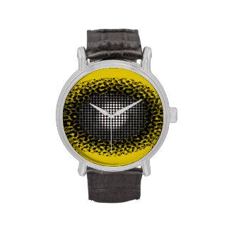 Eye Spy Yellow Pop Art Watch