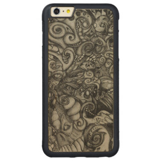 Eye-Spyder Demon Abstract Tribal ArtWork Carved Maple iPhone 6 Plus Bumper Case