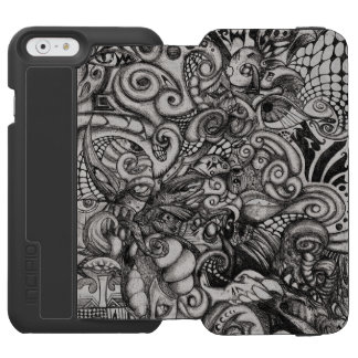 Eye-Spyder Demon Abstract Tribal ArtWork iPhone 6/6s Wallet Case