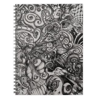 Eye-Spyder Demon Abstract Tribal ArtWork Notebook