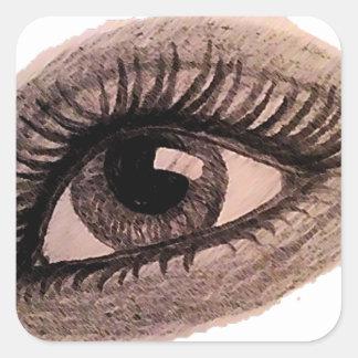 eye square sticker