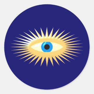 Eye star jets eye star rays classic round sticker