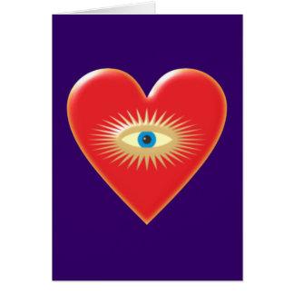 Eye star jets eye star rays heart heart greeting cards