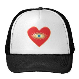 Eye star jets eye star rays heart heart mesh hat
