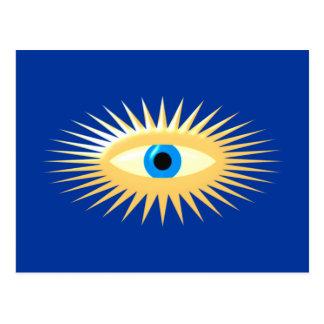Eye star jets eye star rays post cards