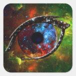 Eye - Stellar Nursery R136 on nebula background Square Sticker