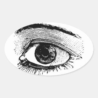 Eye Oval Stickers