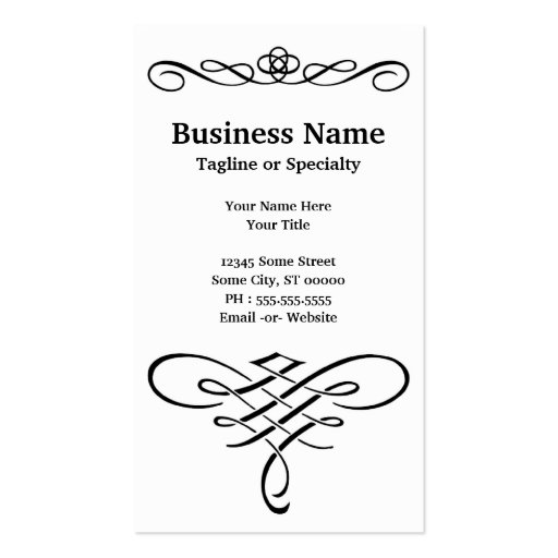 eye test business card templates (back side)