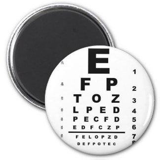 Eye Test Chart 2 Inch Round Magnet