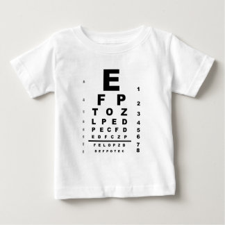 Eye Test Chart Baby T-Shirt