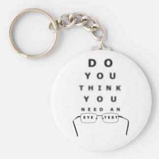 Eye Test Chart Button Keychain