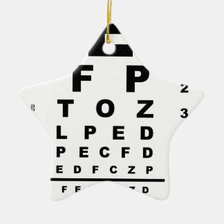 Eye Test Chart Ceramic Ornament